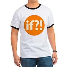 if?! orange/white Ringer T