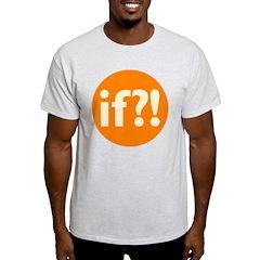 if?! orange/white T-Shirt