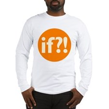 if?! orange/white Long Sleeve T-Shirt