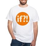 if?! orange/white White T-Shirt