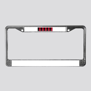 Long Row of Lockers License Plate Frame