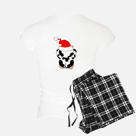 Cartoon Cow Santa Pajamas