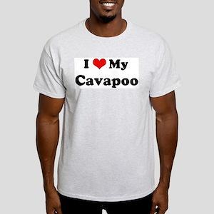 I Love Cavapoo Ash Grey T-Shirt