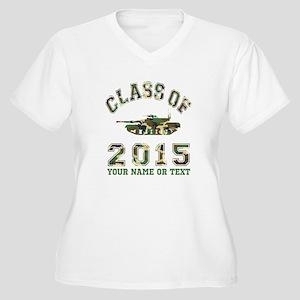 Class Of 2015 Military School Women's Plus Size V-