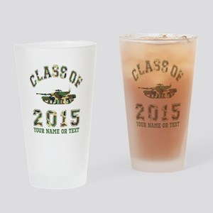 Class Of 2015 Military School Drinking Glass