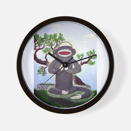 Sock Monkey Nirvana Wall Clock