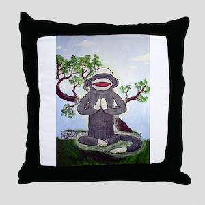 Sock Monkey Nirvana Throw Pillow