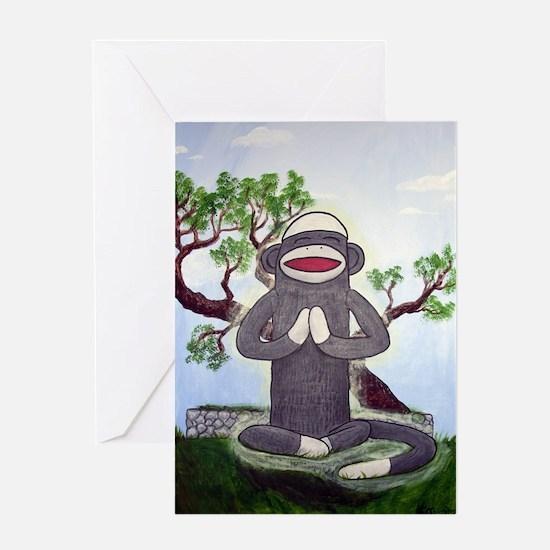 Sock Monkey Nirvana Greeting Card