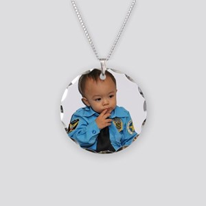 Policeman Ponder Necklace Circle Charm