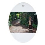 Monkey Trail Ornament (Oval)