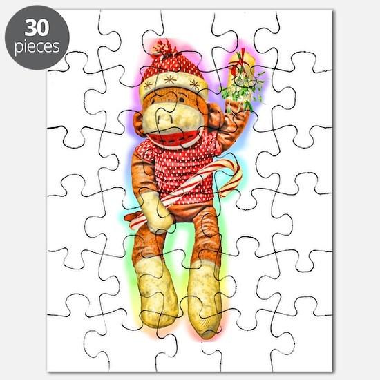 Christmas Sock Monkey Clothin Puzzle