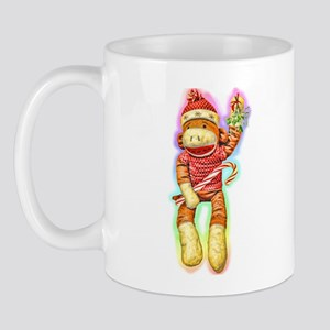Glowing Christmas SockMonkey Mug
