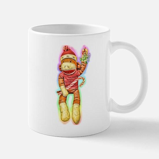 Glowing Christmas SockMonkey Mug