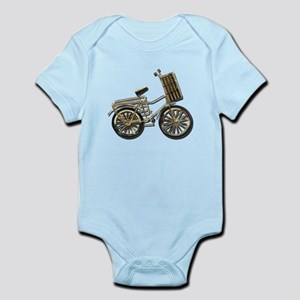 Golden Bicycle with Basket Infant Bodysuit