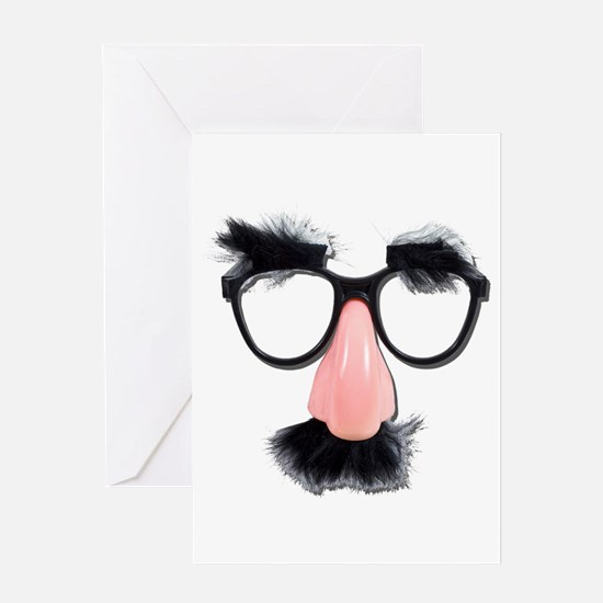 Glasses Mustache Eyebrows Greeting Card