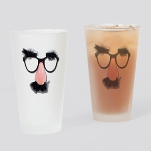 Glasses Mustache Eyebrows Drinking Glass
