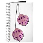 Fuzzy Pink Heart Dice Journal