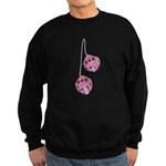 Fuzzy Pink Heart Dice Sweatshirt (dark)