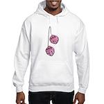 Fuzzy Pink Heart Dice Hooded Sweatshirt