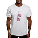 Fuzzy Pink Heart Dice Light T-Shirt