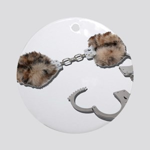 Fur Lined Handcuffs Ornament (Round)
