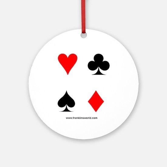 Card Symbols Apparel Ornament (Round)