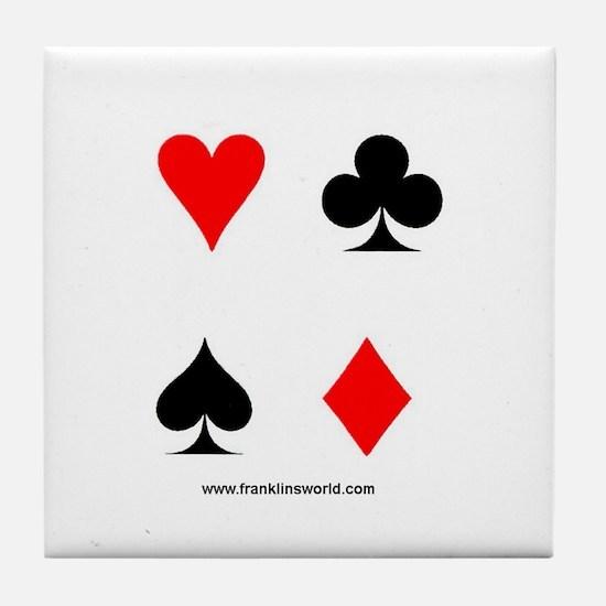 Card Symbols Apparel Tile Coaster
