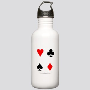Card Symbols Apparel Stainless Water Bottle 1.0L