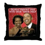 Obama's Inner Child Throw Pillow