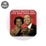 "Obama's Inner Child 3.5"" Button (10 pack)"