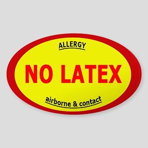 No Latex / Latex Allergy Sticker (Oval)