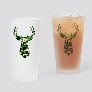 BUCK IN CAMO Drinking Glass