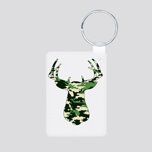 BUCK IN CAMO Aluminum Photo Keychain