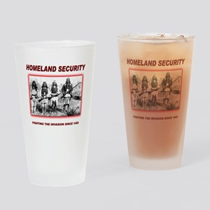 Homeland Security Native Drinking Glass