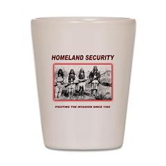 Homeland Security Native Shot Glass