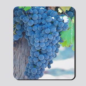 ripe bunch of grapes mousepad