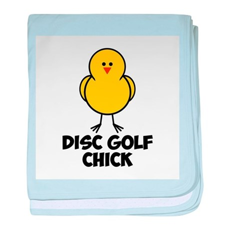 Disc Golf Chick baby blanket