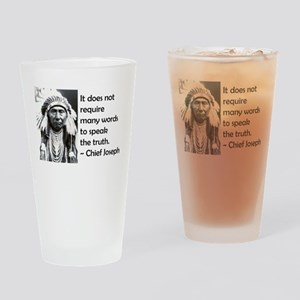 Truth Quote Drinking Glass