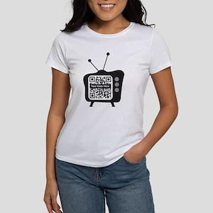 QR Code Retro TV Women's T-Shirt