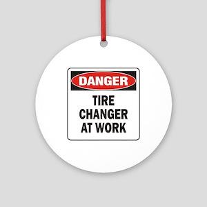 Tire Changer Ornament (Round)