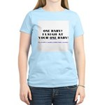 I laugh at your one baby! Women's Pink T-Shirt