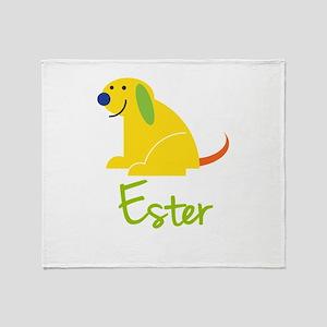 Ester Loves Puppies Throw Blanket
