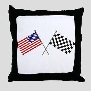 American-Checker Flag Throw Pillow