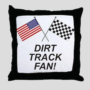 Dirt Track Fan Throw Pillow