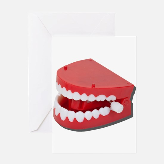 Fake Chattering Teeth Greeting Card
