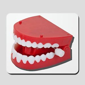 Fake Chattering Teeth Mousepad