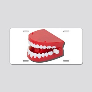 Fake Chattering Teeth Aluminum License Plate