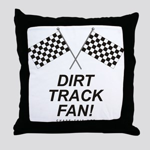 Checker Flag Dirt Throw Pillow