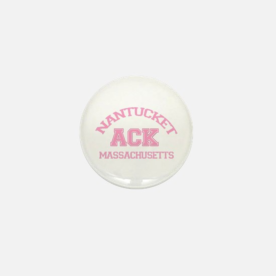 Nantucket MA - Varsity Design Mini Button