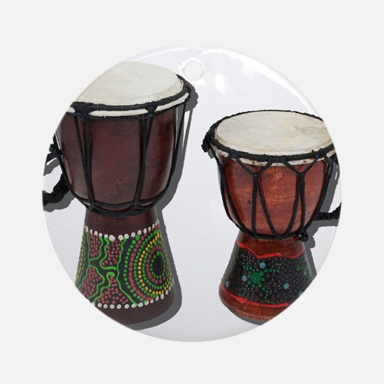 Djembe Drums 1 Ornament (Round)